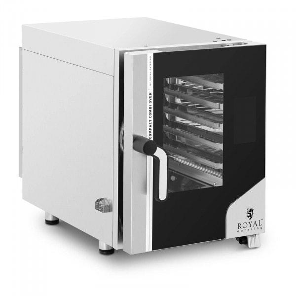 Digitaler Heißluftofen - 7.800 W - Dampffunktion - 6 Einschübe GN 1/1