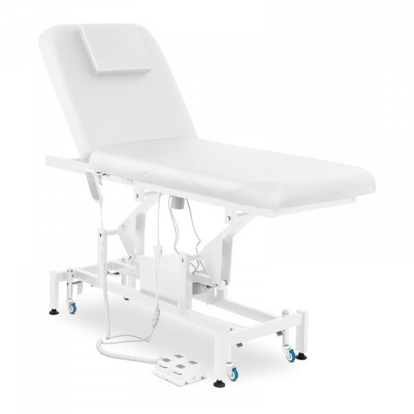 Massageliege LYON WHITE - elektrisch