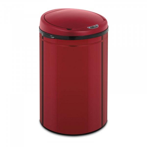 B-Ware Sensor Abfalleimer - 30 L - rot - Inneneimer - Karbonstahl