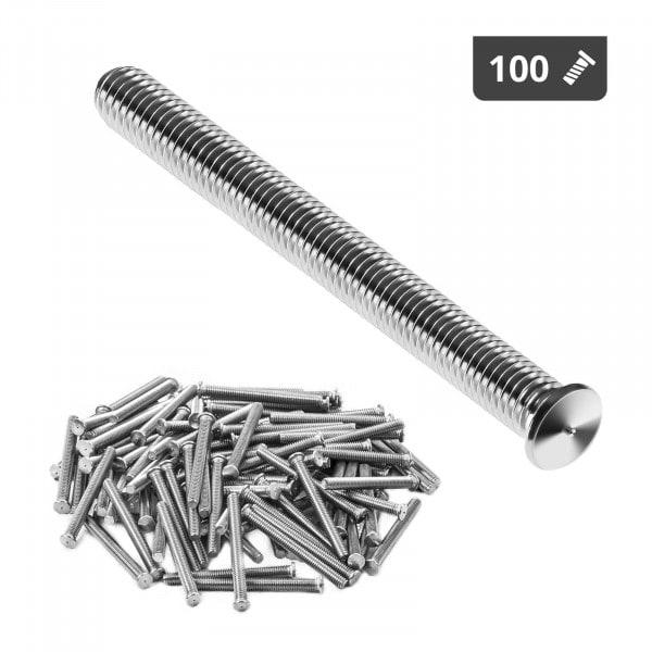 Schweißbolzen - M4 - 40 mm - Edelstahl - 100 Stück