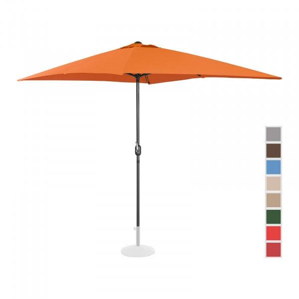 Sonnenschirm groß - orange - rechteckig - 200 x 300 cm