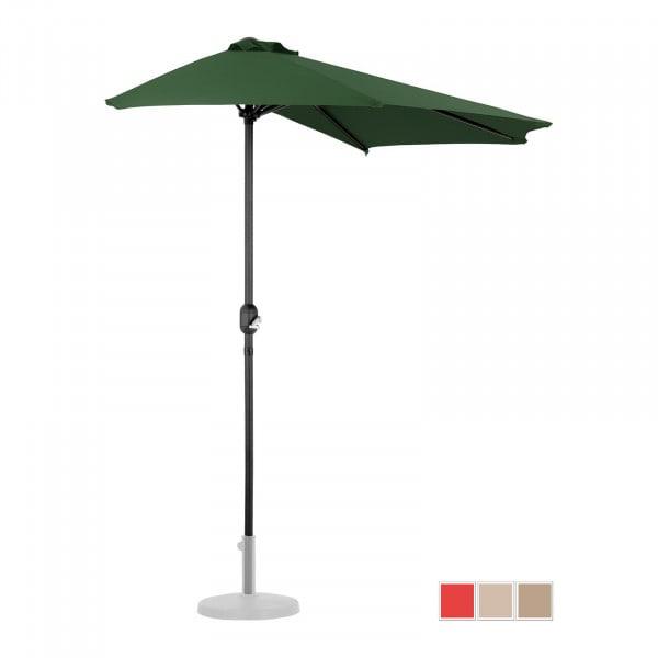 Halber Sonnenschirm - Grün - fünfeckig - 270 x 135 cm