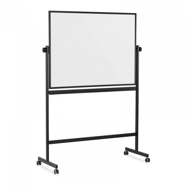 Whiteboard - 90 x 120 cm - doppelseitig- kippbar - Rollen