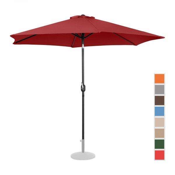 B-Ware Sonnenschirm groß - bordeaux - sechseckig - Ø 300 cm - neigbar
