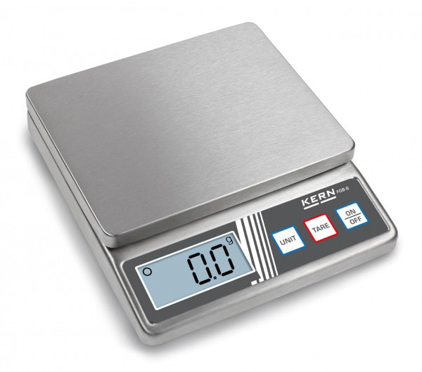KERN FOB 500-1S - kompakte Edelstahlwaage