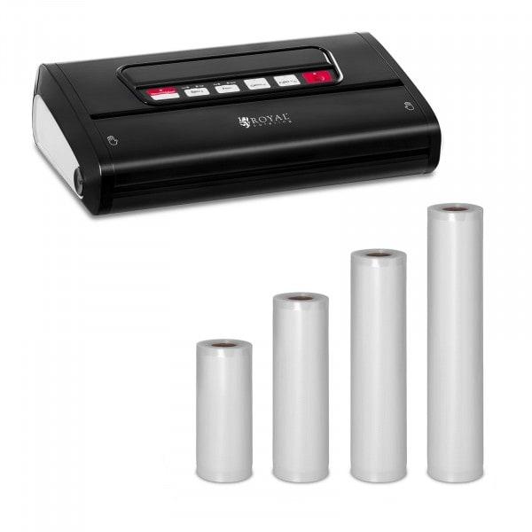 Vakuumiergerät Set mit 4 Rollen Vakuumierbeutel - 15 bis 30 cm - ABS - 32 cm - Black Edition