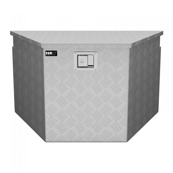 Alubox Riffelblech - 82 x 48 x 46 cm - 150 L