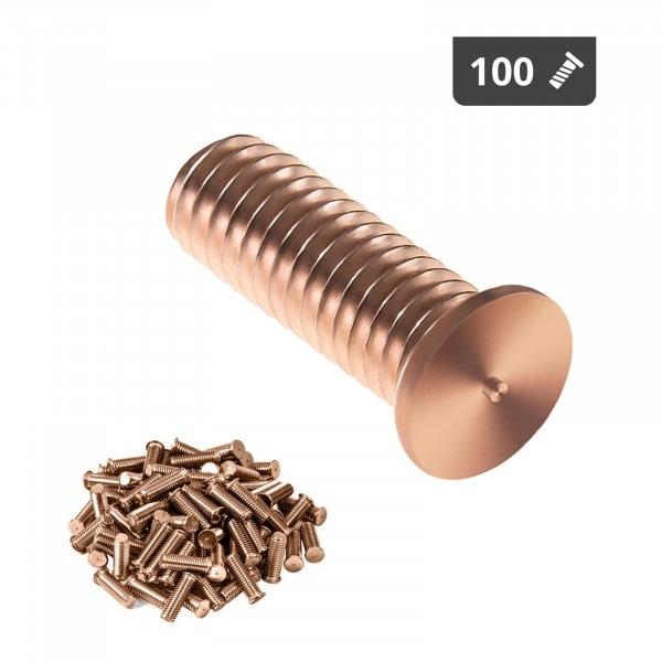 Schweißbolzen - M3 - 10 mm - Stahl - 100 Stück