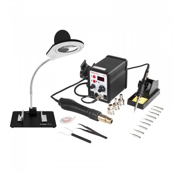 Set Lötstation - 60 Watt - LED-Display + Zubehör
