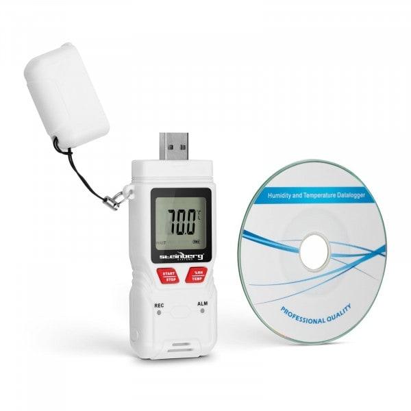 Datenlogger Temperatur + Luftfeuchtigkeit - LCD - (-40) bis +70 °C - 0 bis 100 % rH