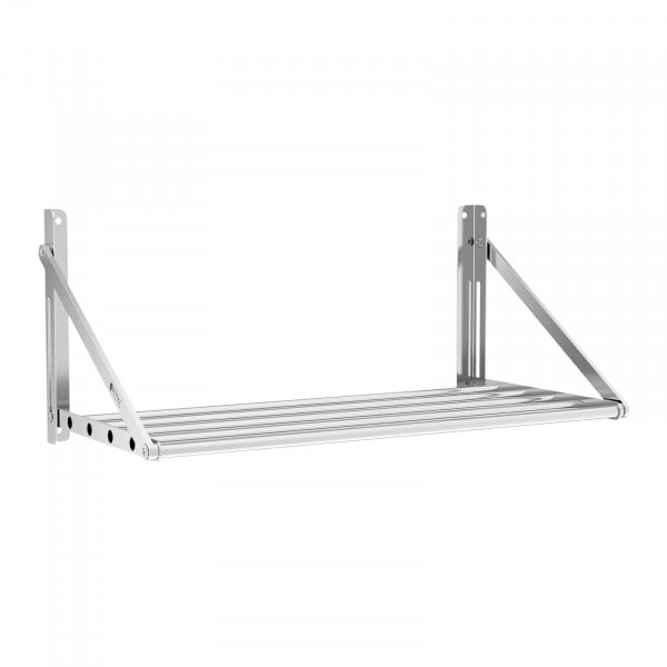 Wandbord - klappbar - Stangendesign - 80 x 45 cm - 40 kg - Edelstahl