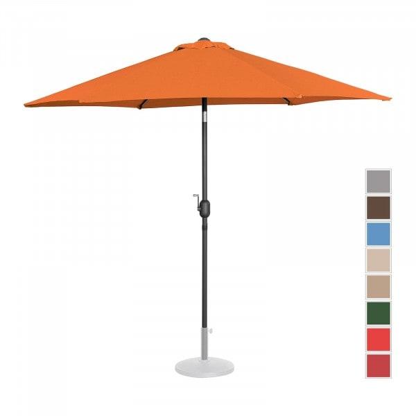 Sonnenschirm groß - orange - sechseckig - Ø 270 cm - neigbar