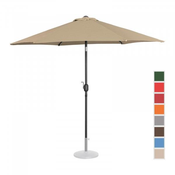 Sonnenschirm groß - taupe - sechseckig - Ø 270 cm - neigbar