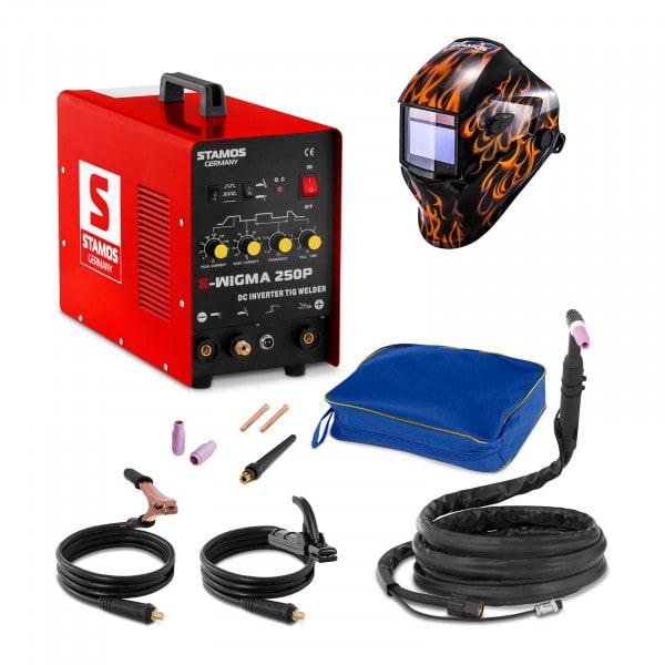 Schweißset WIG Schweißgerät - 250 A - 230 V - Puls + Schweißhelm – Firestarter 500