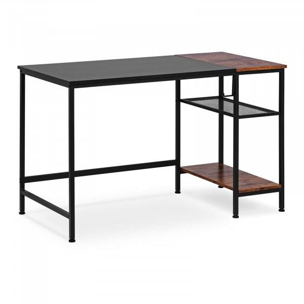 Schreibtisch - 120 x 60 cm - 50 kg - mit seitlicher Ablagefläche