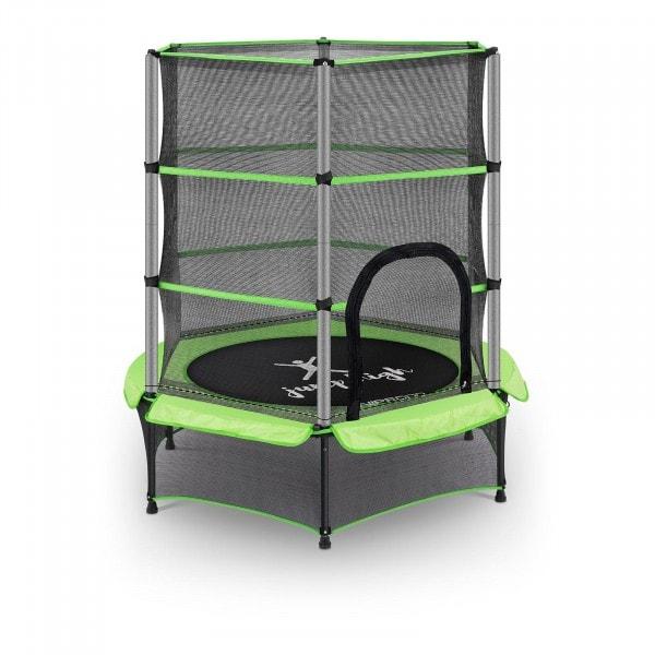 B-Ware Kindertrampolin - mit Sicherheitsnetz - 140 cm - 50 kg - grün