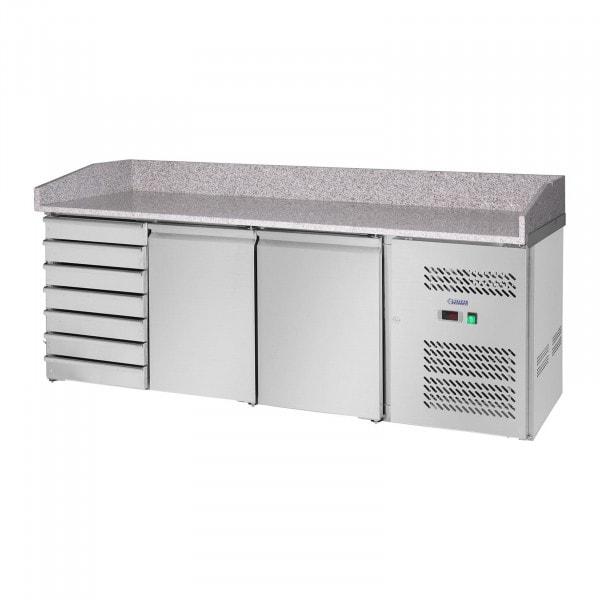 Kühltisch - 580 L - Granitarbeitsplatte - 2 Türen
