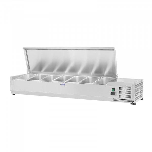 Kühlaufsatzvitrine - 160 x 39 cm - 7 GN 1/3 Behälter