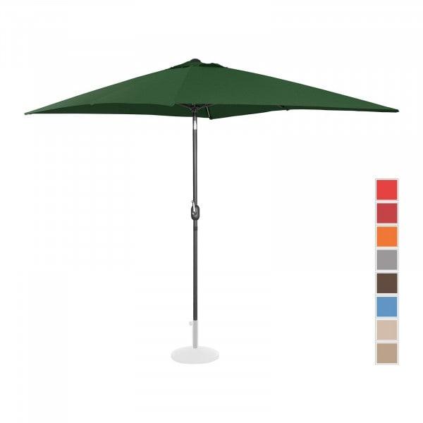 B-Ware Sonnenschirm groß - grün - rechteckig - 200 x 300 cm - neigbar