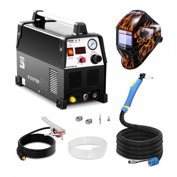 Schweißset Plasmaschneider - 50 A - 230 V - Pro + Schweißhelm – Firestarter 500