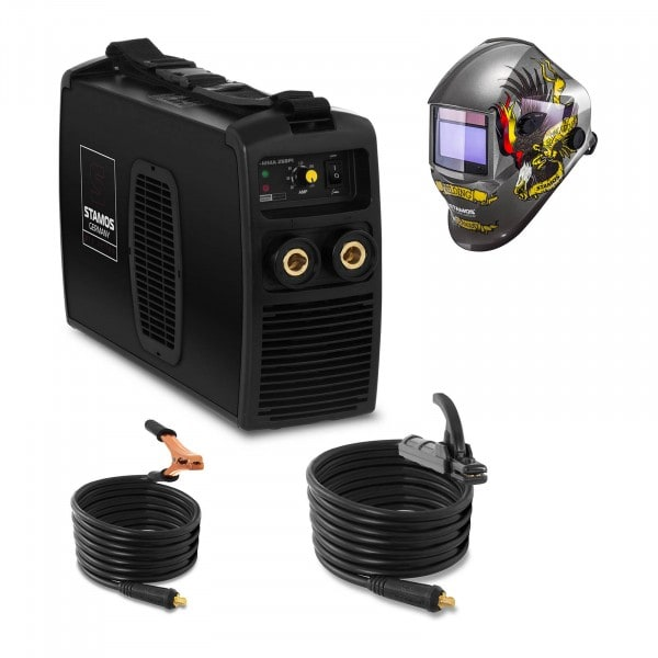 Schweißset Elektroden Schweißgerät - 250 A - 230 V IGBT + Schweißhelm – Eagle Eye