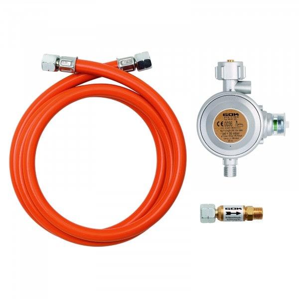 Gesamtansicht von Bartscher Gas-Anschluss-Set - für Außenbereich