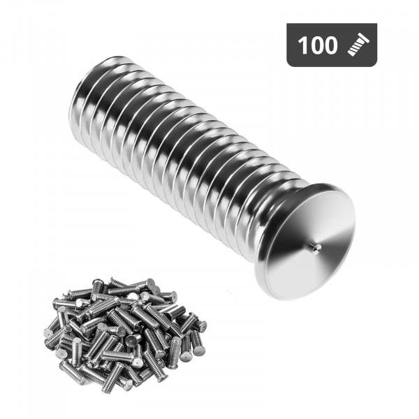 Schweißbolzen - M8 - 25 mm - Edelstahl - 100 Stück
