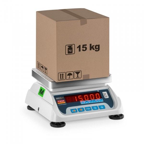 Tischwaage - geeicht - 6 kg / 2 g - 15 kg / 5 g - LED
