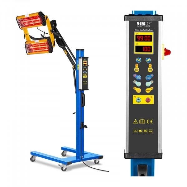 Infrarot-Lacktrockner - 2.200 W - 2 Strahler - digitales Display