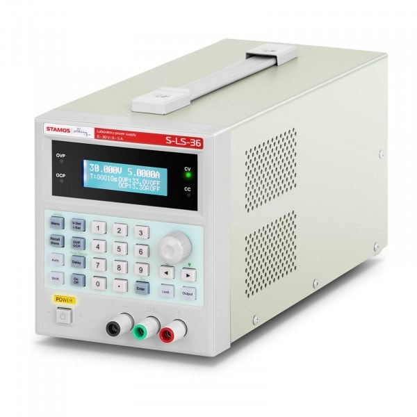 Labornetzgerät - 0-30 V - 0-5 A DC - 150 W - USB - 100 Speicherplätze