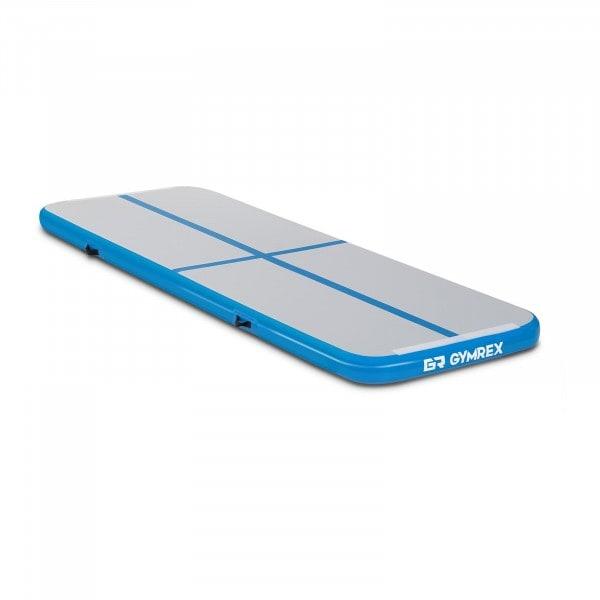 Aufblasbare Turnmatte - 300 x 100 x 10 cm - 150 kg - blau/grau