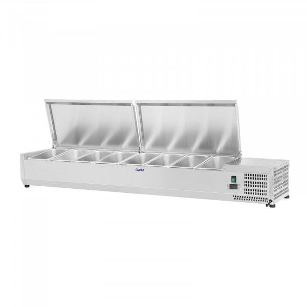 Kühlaufsatzvitrine - 180 x 39 cm - 8 GN 1/3 Behälter