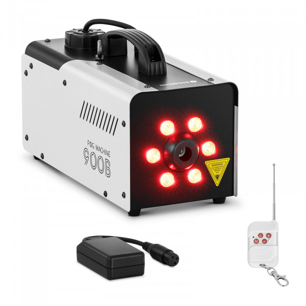 B-Ware Nebelmaschine - 900 W - 141,6 m³ - LED 6 x 3 W - DMX-Anschluss