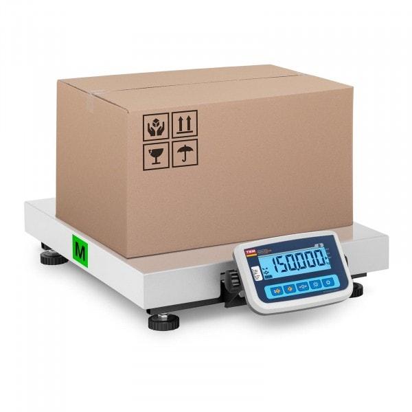 Paketwaage - geeicht - 150 kg / 50 g - 60 x 50 cm