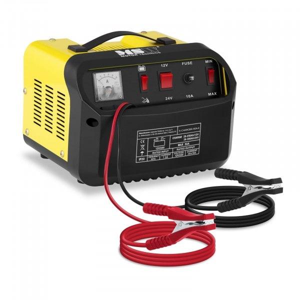 Autobatterie-Ladegerät - Starthilfe - 12/24 V - 20/30 A - schräges Bedienfeld