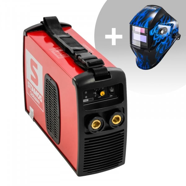 Schweißset Elektroden Schweißgerät - 180 A - 230 V IGBT + Schweißhelm – Sub Zero