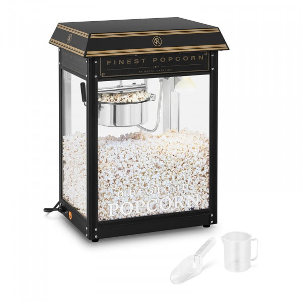 Popcornmaschine - schwarz & golden