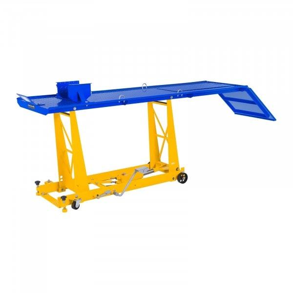 Motorradhebebühne mit Rampe - 450 kg - 206 x 55 cm