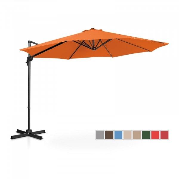Ampelschirm - orange - rund - Ø 300 cm - drehbar
