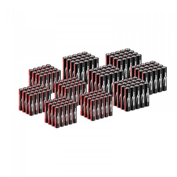 200 x Micro/Mignon-Mix (100 x AAA LR03 + 100 x AA LR6) - Ansmann INDUSTRIAL Alkaline-Batterien - 1,5