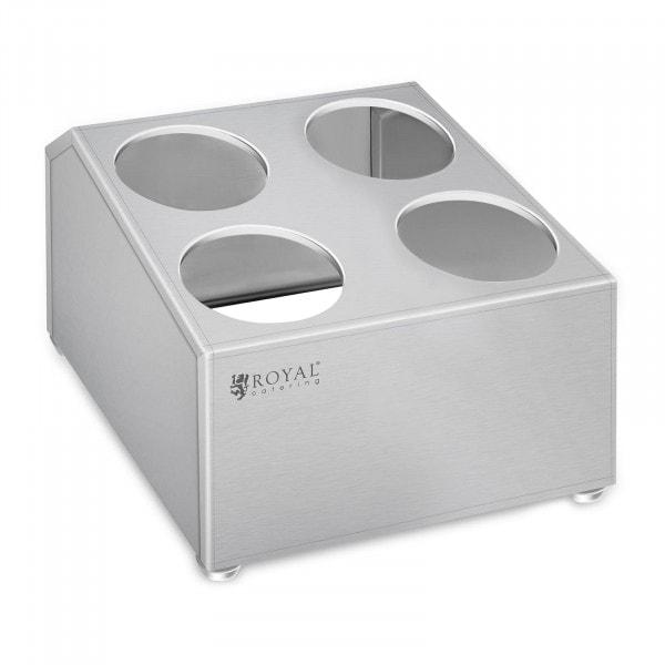 B-Ware Besteckbehälter - Edelstahl - für 4 Besteckköcher