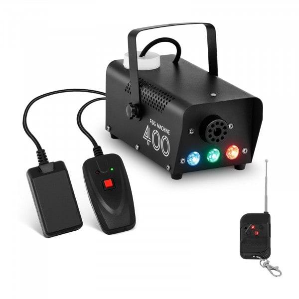 Nebelmaschine - LED 3 x 3 W - 400 W - 28 m³/min - Fernbedienung