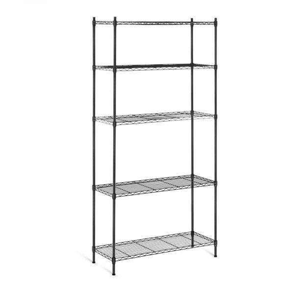 Metallregal - 35 x 90 x 180 cm - 150 kg - schwarz