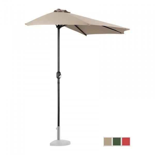 B-WARE Halber Sonnenschirm - Creme - fünfeckig - 270 x 135 cm