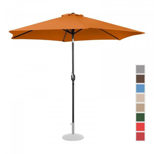 Sonnenschirm groß - orange - sechseckig - Ø 300 cm - neigbar
