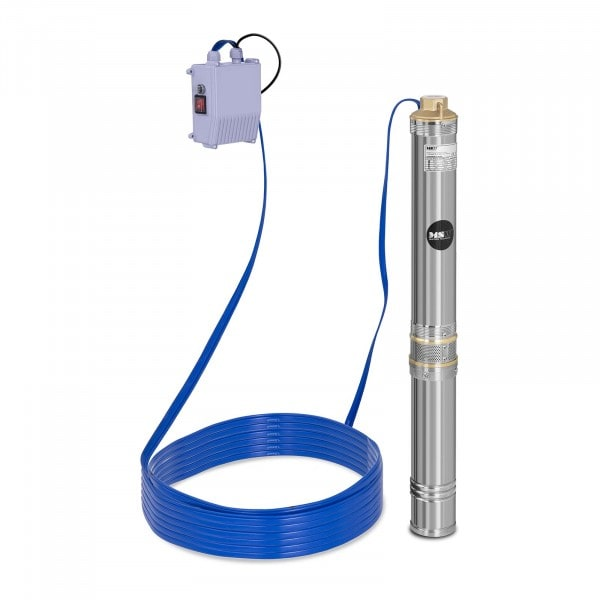 Brunnenpumpe - 6.000 L/h - 750 W - Edelstahl