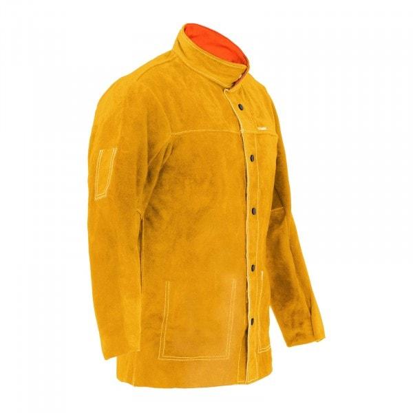 Schweißerjacke aus Rindspaltleder - gold - Größe M