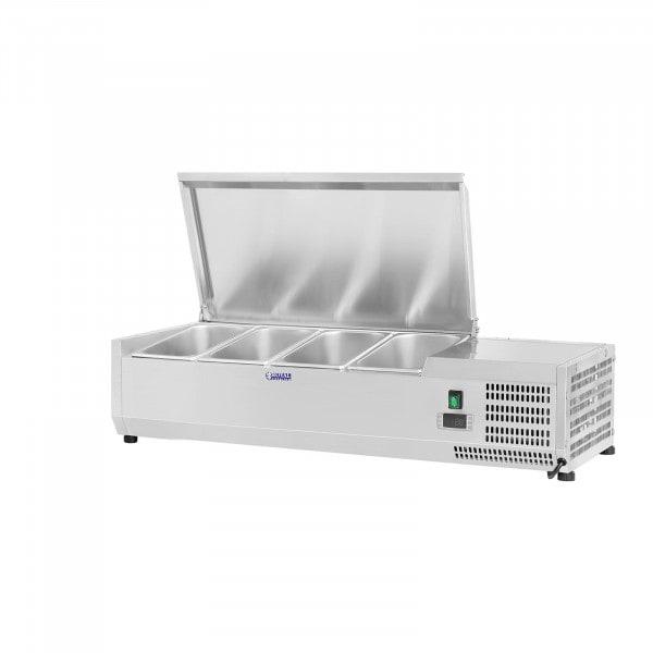 Kühlaufsatzvitrine - 120 x 39 cm - 4 GN 1/3 Behälter