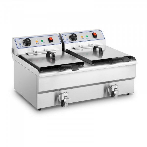 B-WARE Elektro-Fritteuse - 2 x 16 Liter - 400 V