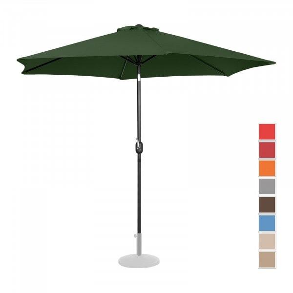 B-Ware Sonnenschirm groß - grün - sechseckig - Ø 300 cm - neigbar